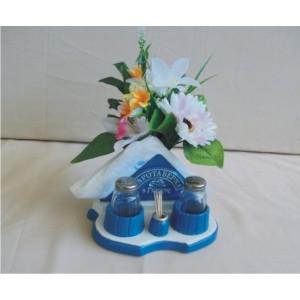 Αλατιέρα-θήκη για χαρτοπετσέτες (μπλε)