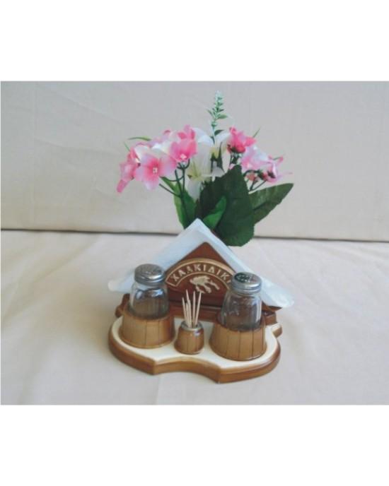 Αλατιέρα-θήκη για χαρτοπετσέτες (καφέ)