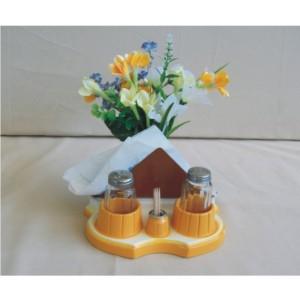 Αλατιέρα-θήκη για χαρτοπετσέτες (κίτρινο)